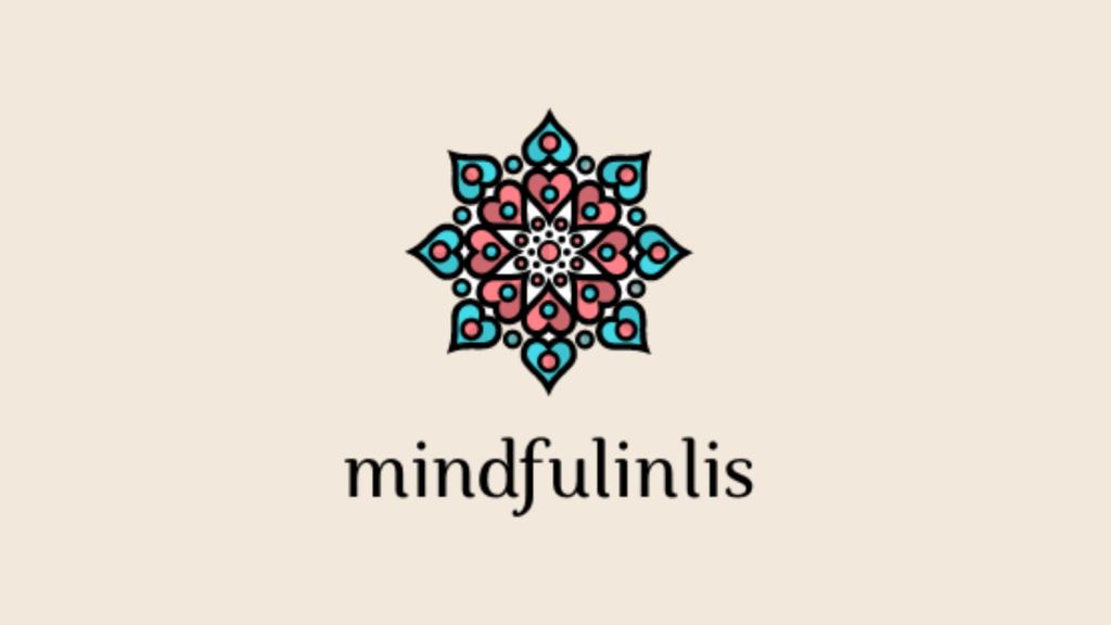 Mindfulinlis logo with a decorative mandala at the center